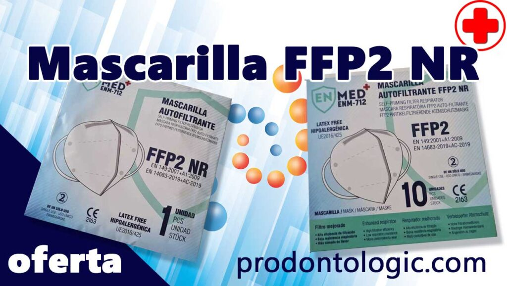 Oferta en mascarilla FFP2 distribuidor clínico dental en España